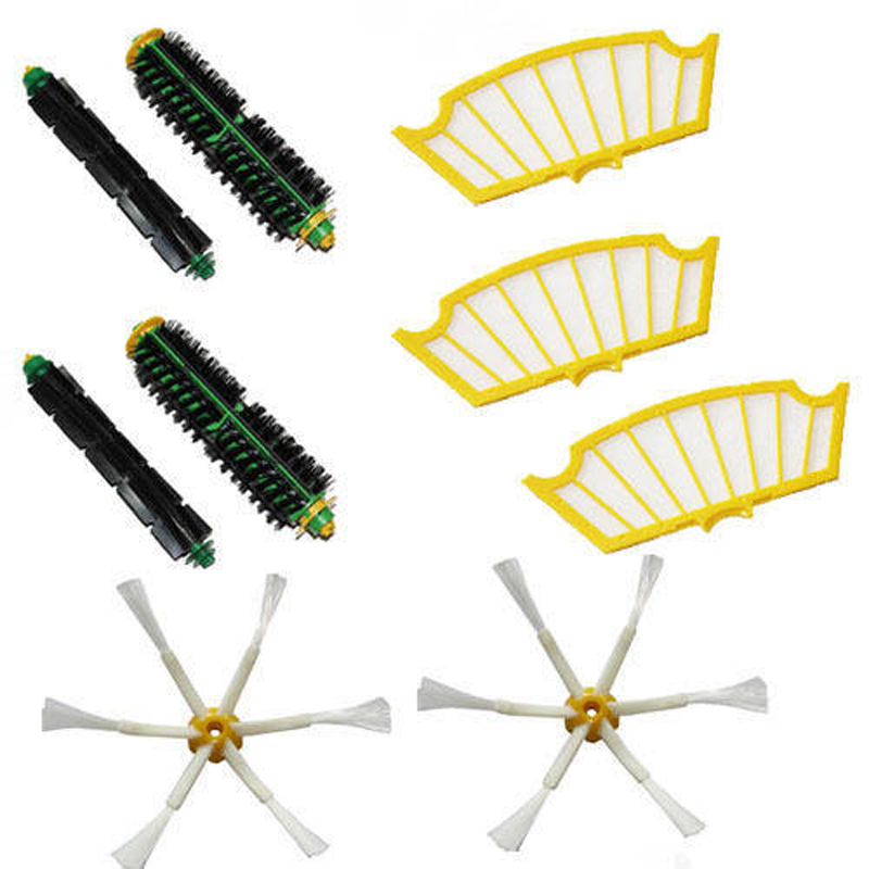 Side Brush Filters 6 Armed pack for iRobot Roomba 500 Series 530 550 560 580 510(China (Mainland))