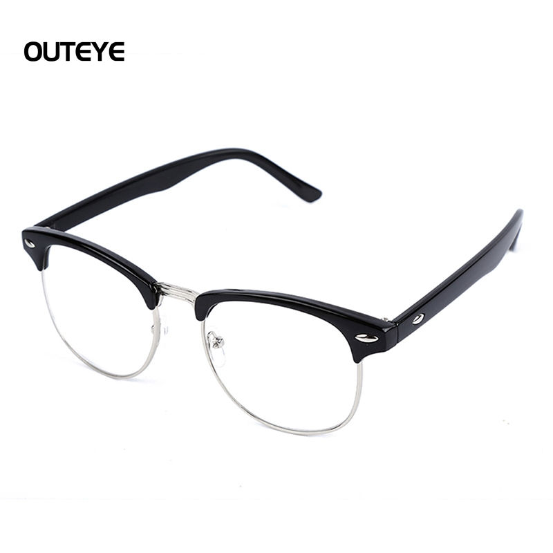 outeye new eyeglasses clear frame glasses optical lens eye