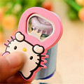 Cute Mini Cartoon Beer Bottle Opener Stainless Steel Frame Silicone Surface Hello Kitty Fridge Magnet Cartoon