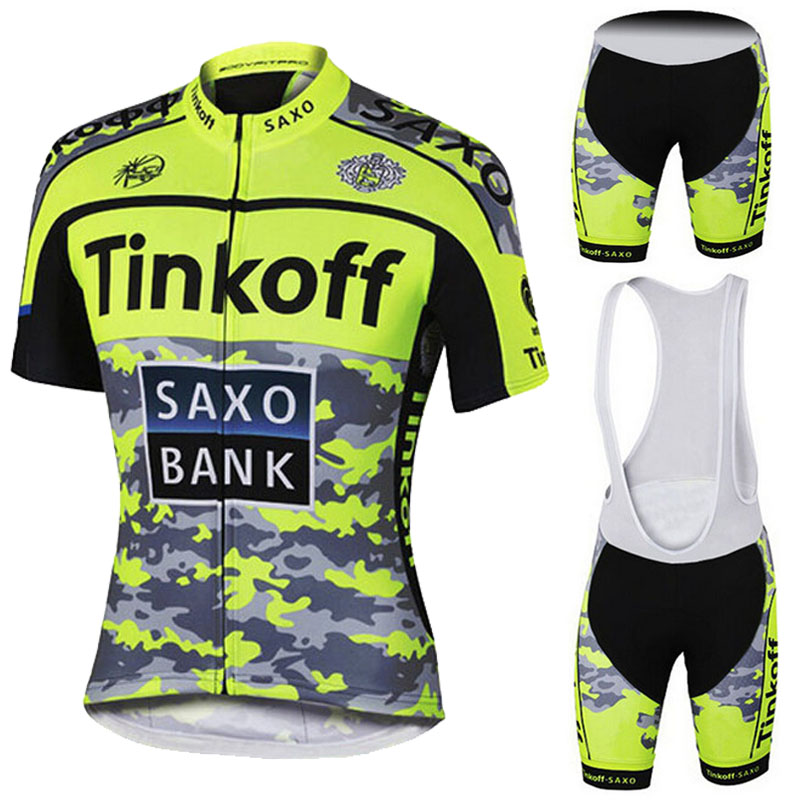 Fluor Yellow Breathable Cycling Clothing/Quick-Dry Roupa Ciclismo Tinkoff Bike Cycling Jersey Cycle Sportswear/Cycling Jerseys(China (Mainland))