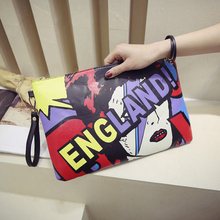 Fashion Pu Woman envelope Day Clutches women Character England letter bag baby letter bag(China (Mainland))