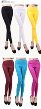 Hot sale Full-length Solid pants Skinny fashion high elastic waist trousers female cotton Leggings one szie (China (Mainland))