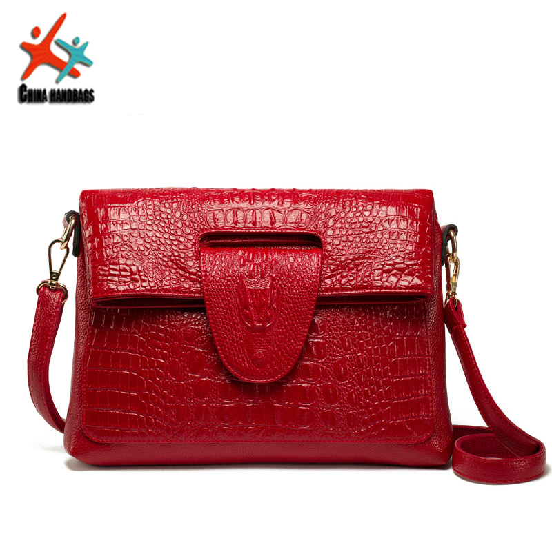 genuine leather Alligator bags for women Casual messenger Shoulder crossbody bags ladies designer handbags high quality totes(China (Mainland))