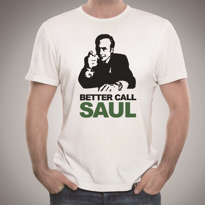 TV Series Men Summer Tshirts Better Call Saul Graphic T Shirts Cotton Short Sleeve Euro Size T-shirts Man Casual Style Top Tees(China (Mainland))