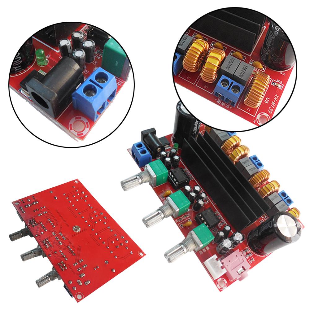 TPA3116D2 DC 12-24V 3 subwoofer channel Digital high efficiency Power Amplifier Board chips loudspeaker box L3FE