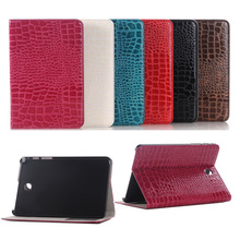 For Samsung Tab Tab S2 T710 Cases Sparkle Crocodile Leather Flip Stand Tablet Cover for Samsung Galaxy Tab S2 T710 T715 8.0inch