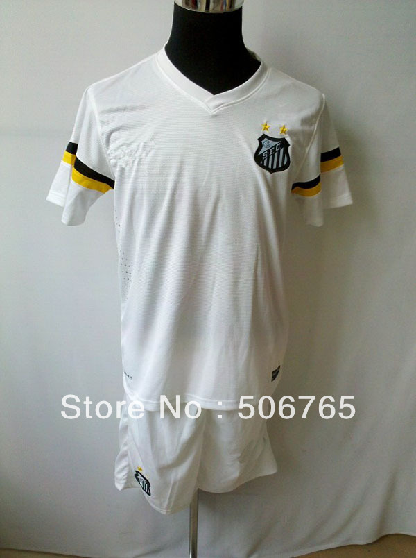 New Arrivals santos 13/14 home soccer jerseys Original football uniforms soccer wear Free shipping!(China (Mainland))