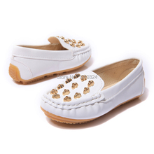 New fashion for children leather single shoes Peas shoes neutral frosted appearance shoes Sanded leather children doug shoes