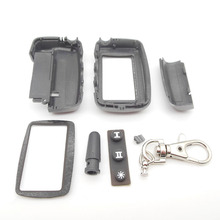 Free shipping A9 case keychain for russian version Starline A9/A8 Case keychain LCD two way car alarm system new remote control(China (Mainland))