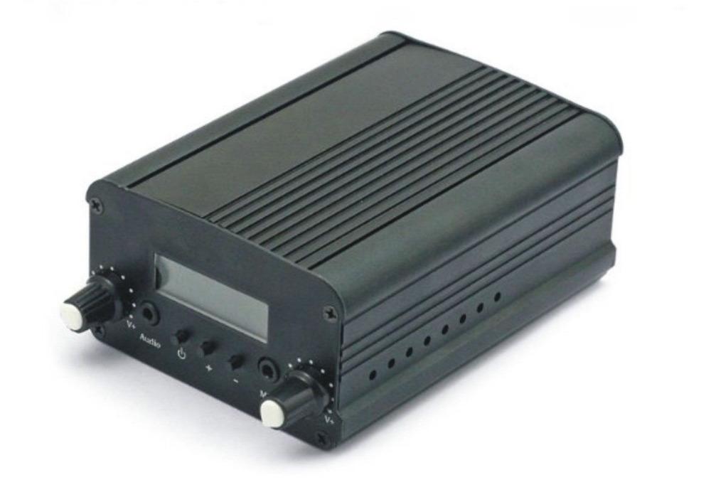 7W 7C FM Transmitter Mini Broadcast Radio Stereo Station PLL LCD with Antenna *Fashion Black*(China (Mainland))