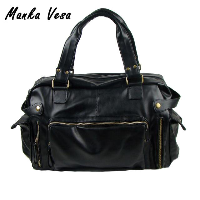 Манька Vesa 2016 мужские дорожные сумки старинные мужская pu кожаная сумка мужчины ...