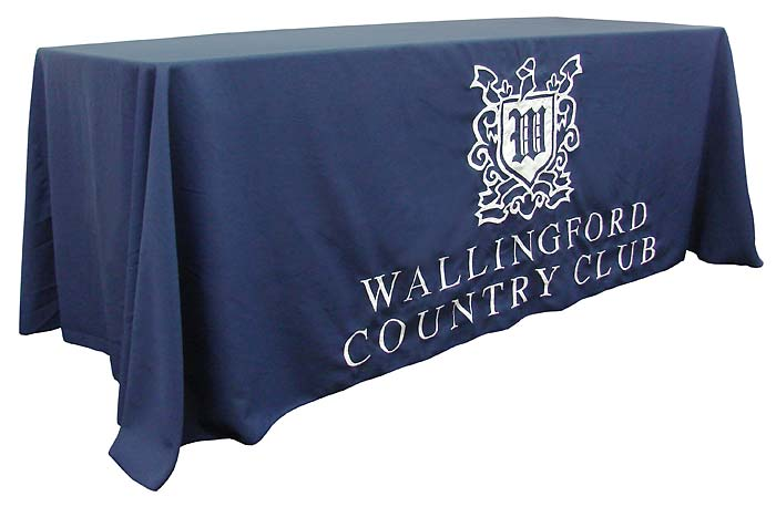8' Custom Print Trade Show Table Skirts & Covers, Open Back Table, Custom Printed Tablecloths(China (Mainland))
