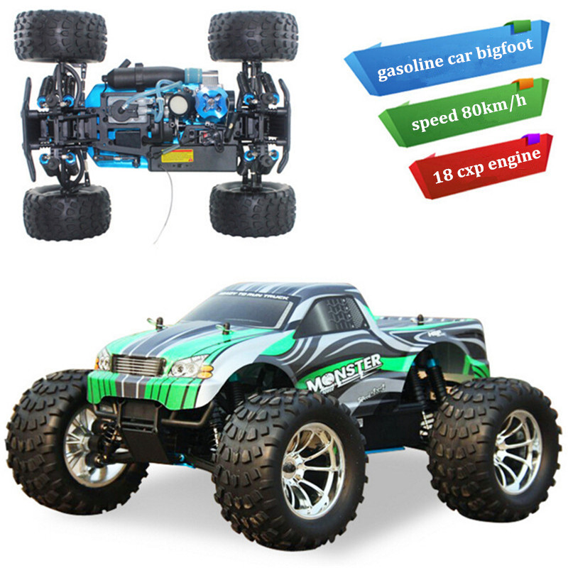 HSP RC Car 1:10 High Speed 4WD Remote Control Gasoline Car RC Off-Road Buggy RC Bigfoot Cars(China (Mainland))