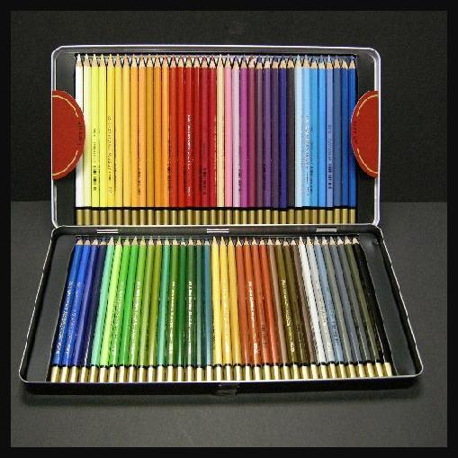 koh-i-noor 72 colors senior tin box water-soluble colored pencils(China (Mainland))
