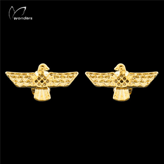 Wholeslae 2015 Fashion Women Fine Jewelry Silver Plated Unique Simple Ethnic Eagles Stainless Steel Post Earrings<br><br>Aliexpress