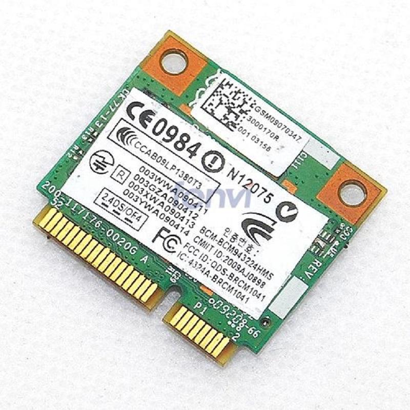 300Mbps Wifi Half size Mini PCI-E Card for HP Broadcom 4322 AGN PCI-E BCM943224HMS bcm4322 Wireless-N Wlan card SPS 582564-002(China (Mainland))