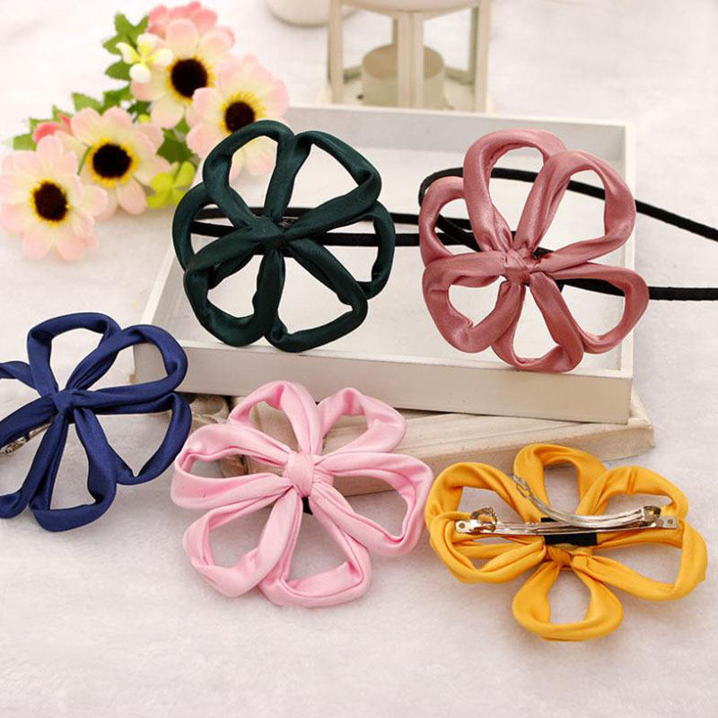 Korean Ribbon Hollow Out Multicolor Flower Hair Band Headband for Girls Accessories Headwear(China (Mainland))