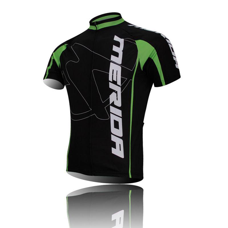 New MERIDA Team Mens Cycling BIcycle Short sleeve jersey sets shirt tops /shorts /BIB Shorts sets Black(China (Mainland))