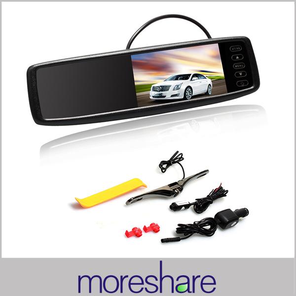 4.3 Inch Car Rearview Mirror Monitors HD TFT LCD Car Mirror Monitor + 12V Wireless Receiver Rear View Camera(China (Mainland))