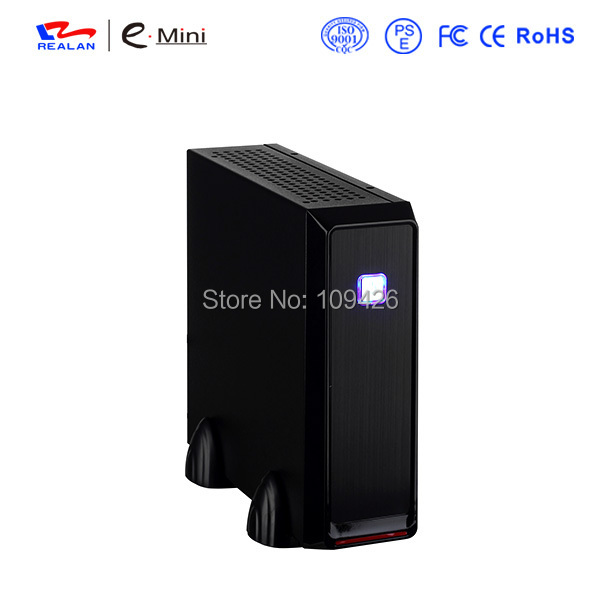 REALAN Custom Gaming Mini ITX Computer Steel Case E-3019 with Power Supply SECC 0.6mm silver, top selling case supplier(China (Mainland))