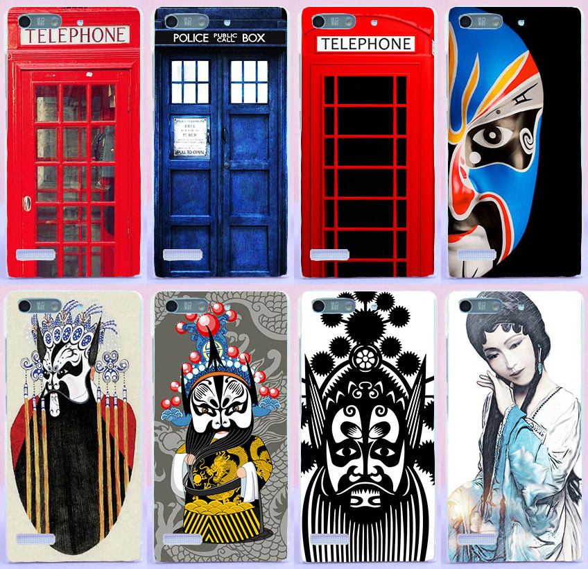 (Only For 3G Version) Telephone Window Peking Opera cell phone Cases For Huawei Ascend G6 3G P6 Mini U00 U10 4.5 inch cases(China (Mainland))