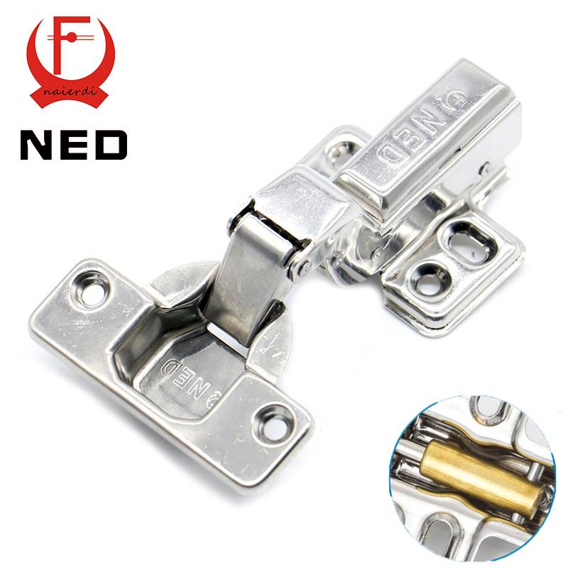 10PCS NED All Size 304 Stainless Steel Hydraulic Hinge Copper Core Damper Buffer Cabinet Cupboard Door Hinges Furniture Hardware(China (Mainland))