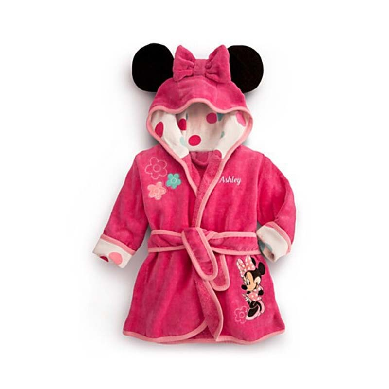 kids towel robes 2015 fall girls pink robe nightgown girl. Black Bedroom Furniture Sets. Home Design Ideas