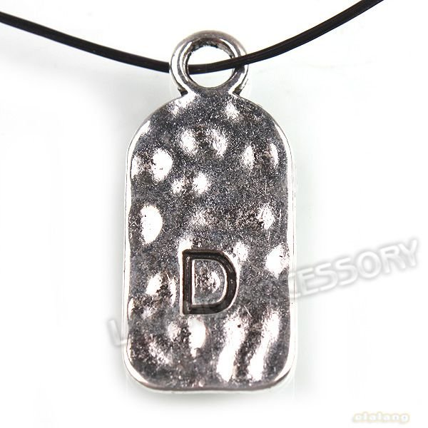Letter D Charm Zinc Alloy Silver Plated Jewelry Fit Necklace DIY 72pcs/lot 27*12*1mm Free Shipping by China Post Air Mail 141480(China (Mainland))