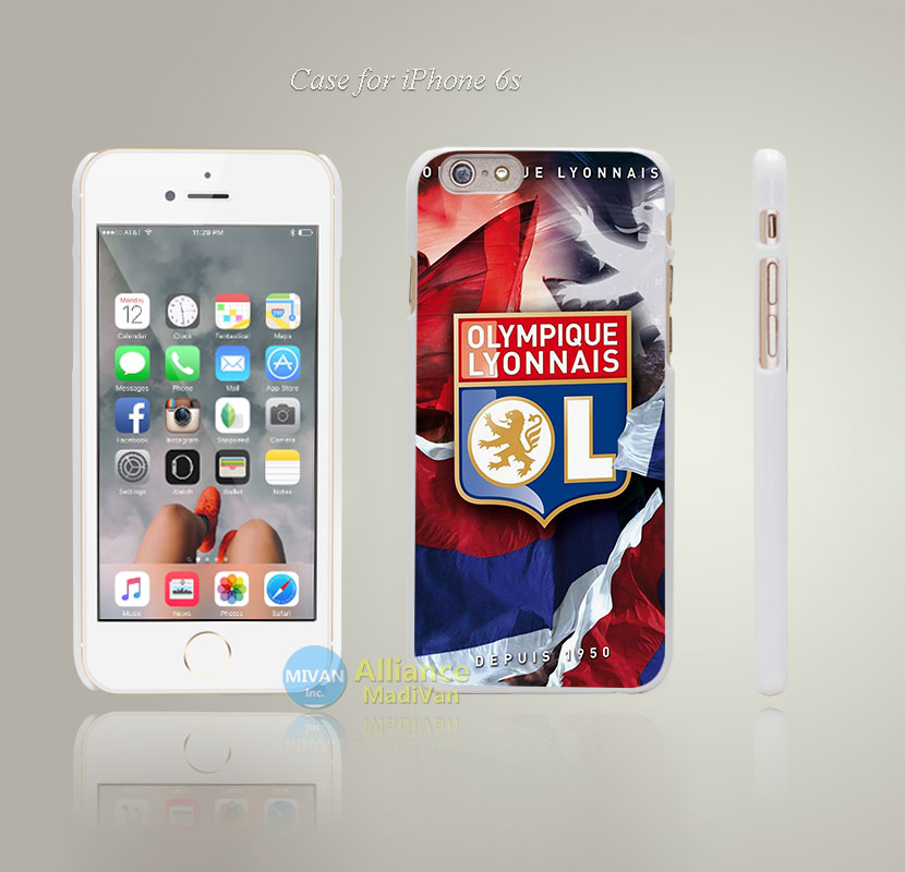 OL Lyon olympique lyonnais Style Hard White Case Cover Coque for iPhone 4 4s 4g 5 5s 5g 5c 6 6s 6 6s Plus(China (Mainland))