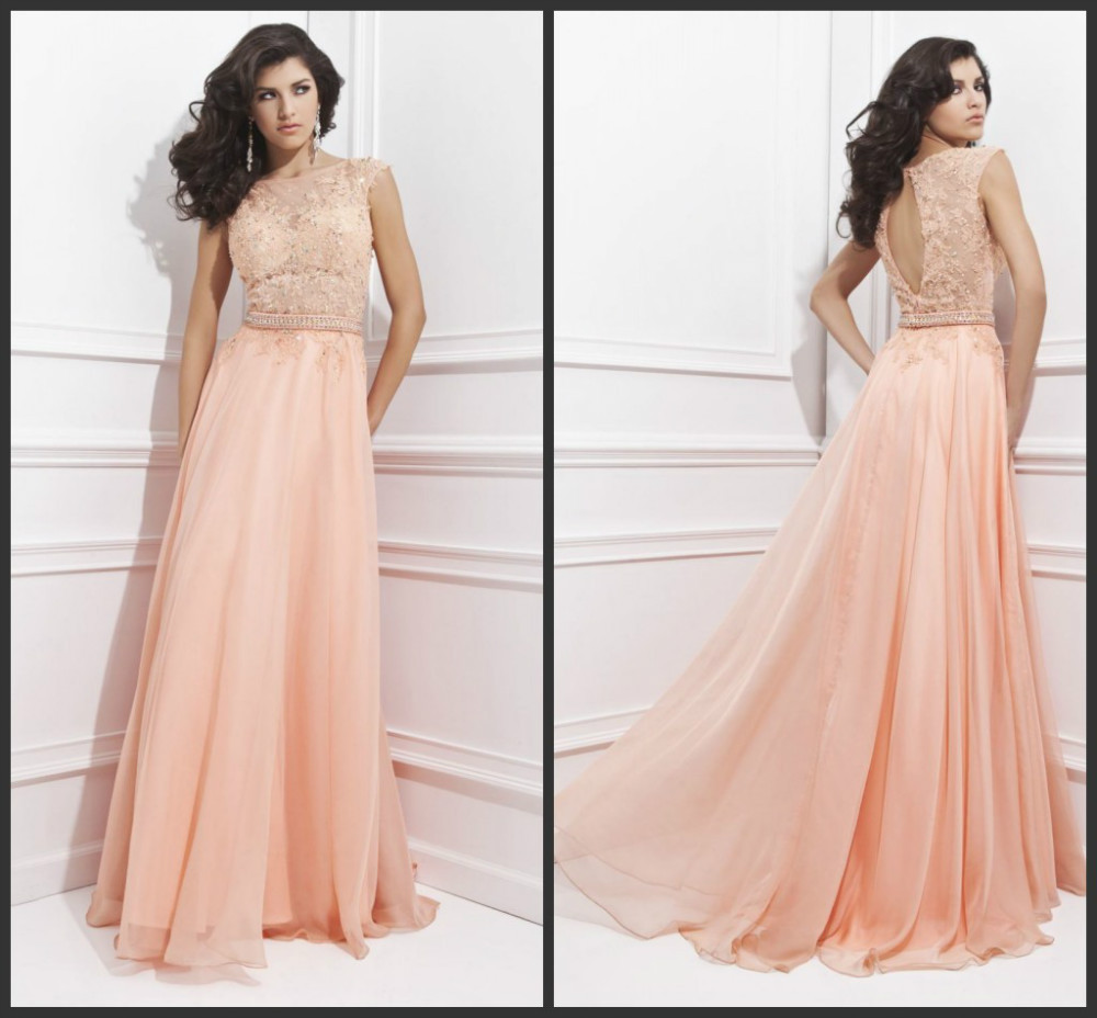 New fashion elegant long prom dresses straight o neck for Long straight wedding dresses
