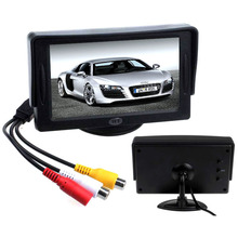2015 New Arrival Classic Style 4.3″ TFT LCD Rearview Car Monitors for DVD GPS Reverse Backup Camera Vehicle driving accessories