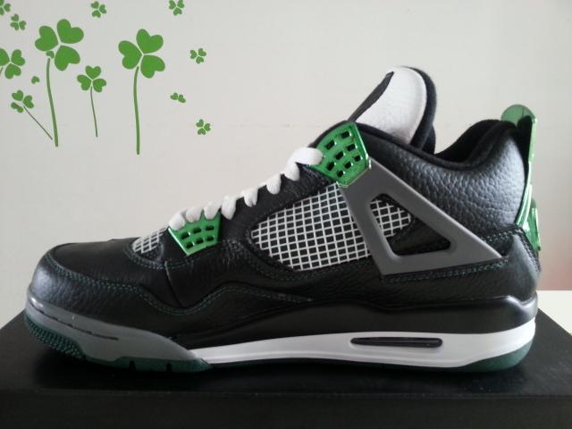 Retro 4s Oregon Ducks Dark Green Men Real Shoes 356375-267 267-356375 Wholesale Retail(China (Mainland))