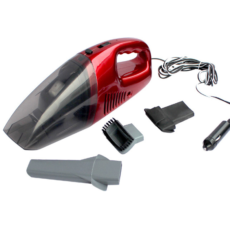 F00007 Portable Handheld Car Vacuum Cleaner Red Car Dust Collector Wet & Dry Dual Use Super Suction 12V 50W N(China (Mainland))