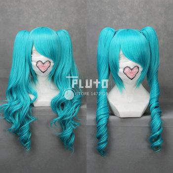 [Vocaloid] Hatsune Miku Blue Wavy Long 65cm Cosplay Wig