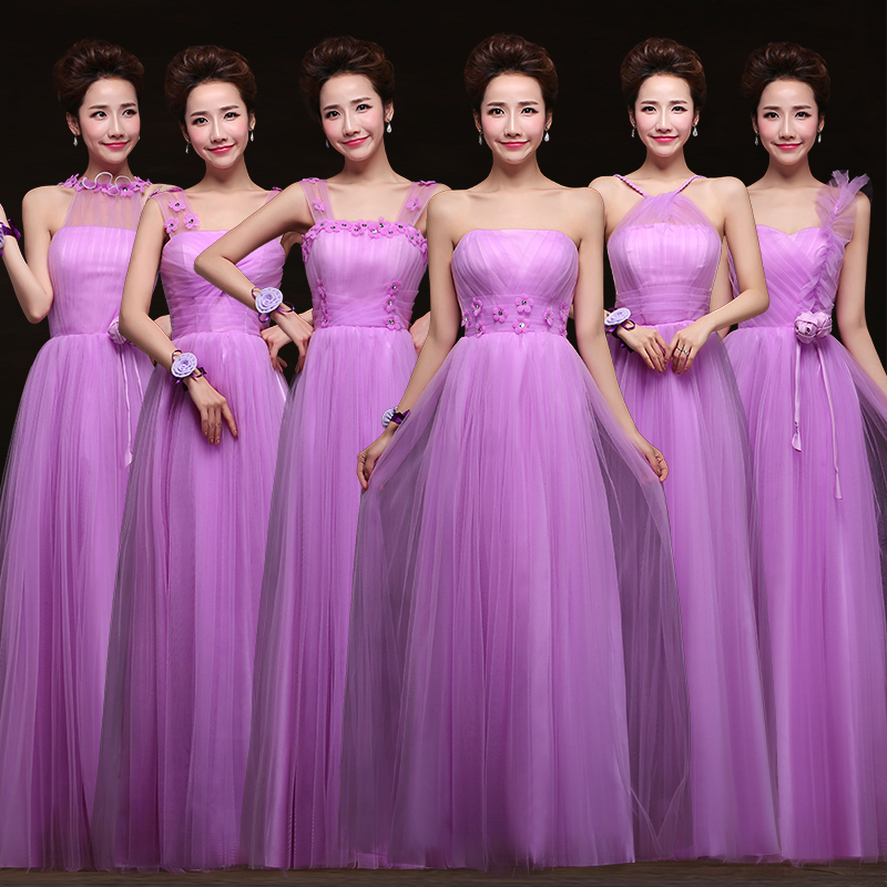 New modern wedding dresses: Bridesmaid dresses purple lavender