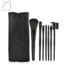 1set=7Pcs HOT 2015 Profession Makeup brush set  7pcs  make up brushes tools and Case cosmetic #1507