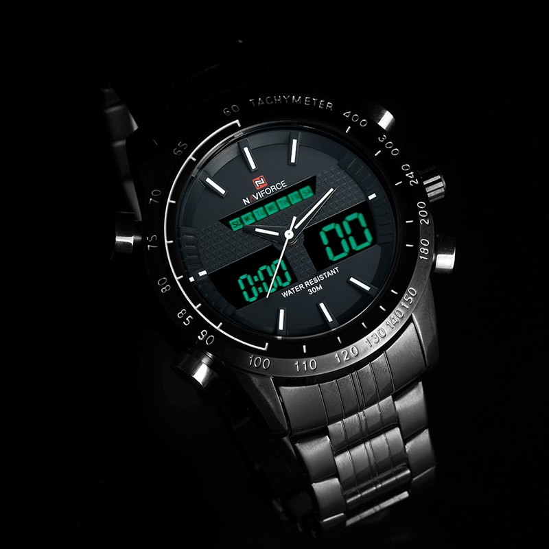 2016 New Men Watches Luxury Brand Men's Quartz Analog Digital LED Clock Man Sports Army Military Wrist Watch Relogio Masculino