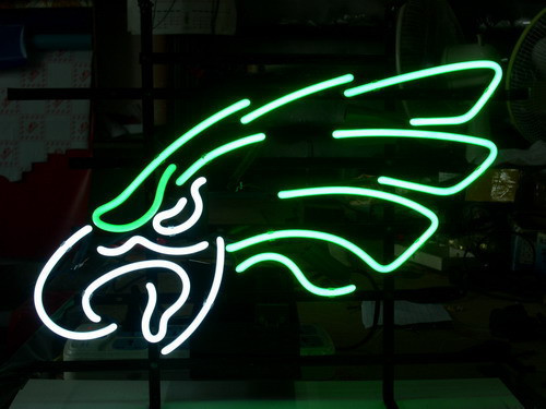 "Custom Business NEON SIGN board For PHILADELPHIA EAGLES REAL GLASS Tube BEER BAR PUB Club Shop Light Signs 17*14""(China (Mainland))"