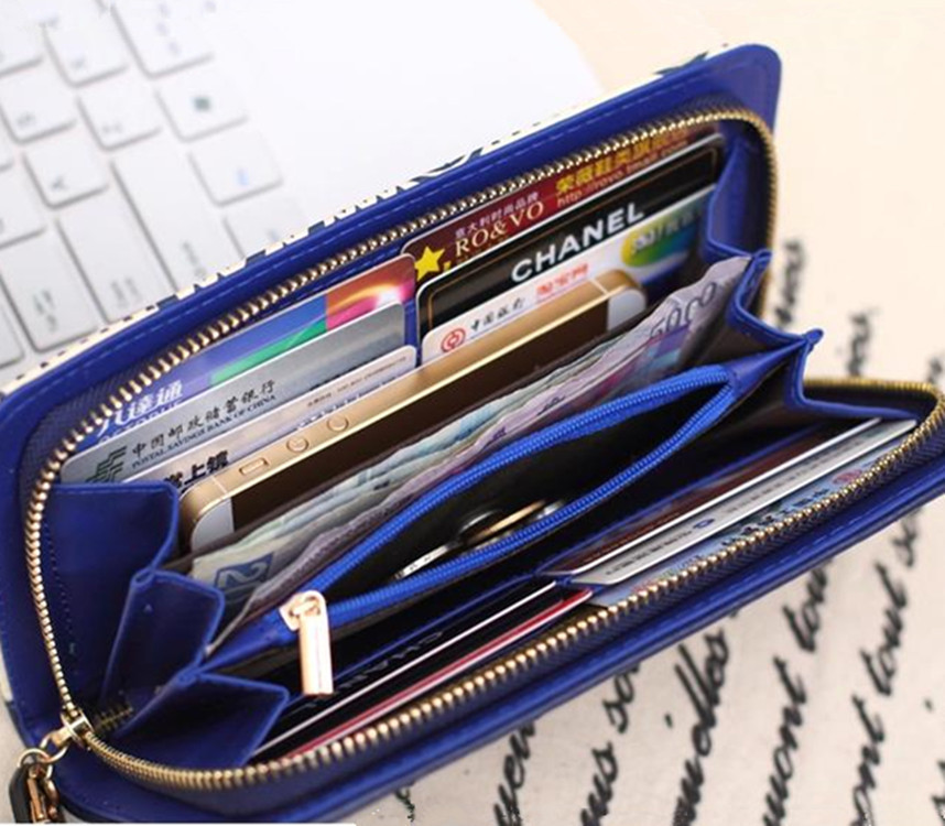High Quality Women Leather Wallets Designer Brand Ladies Wallets Purses Women's Clutch Wallet Wristlet Wallet Cell Phone Holder(China (Mainland))