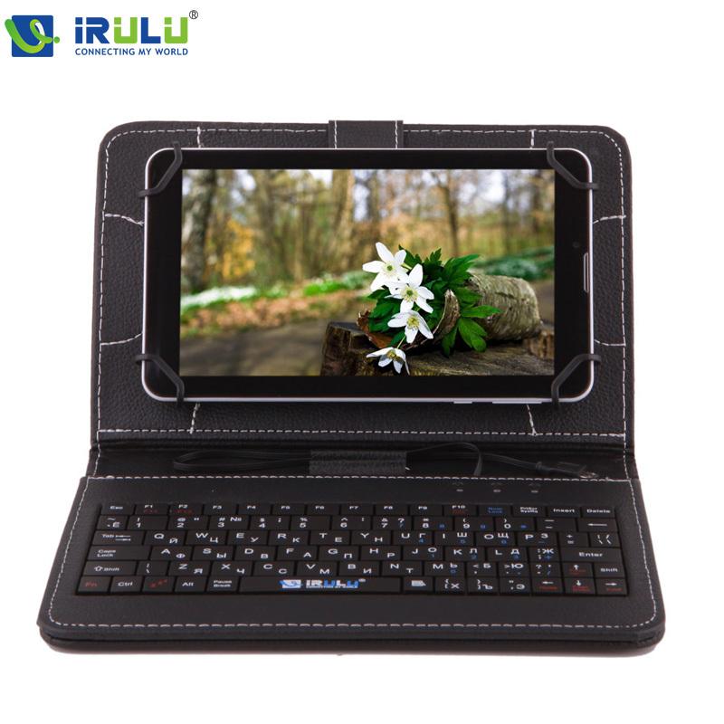 RUSSIAN KEYBOARD 7 inch Tablet PC Using Russia Language People Leather Micro USB Keyboard Case Plate iRULU Brand 2016 New - iRulu-Net store