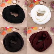 4 colors Women's Winter Warm 2Circle Cable Knit Cowl Neck Long Scarf Shawl Brand New(China (Mainland))