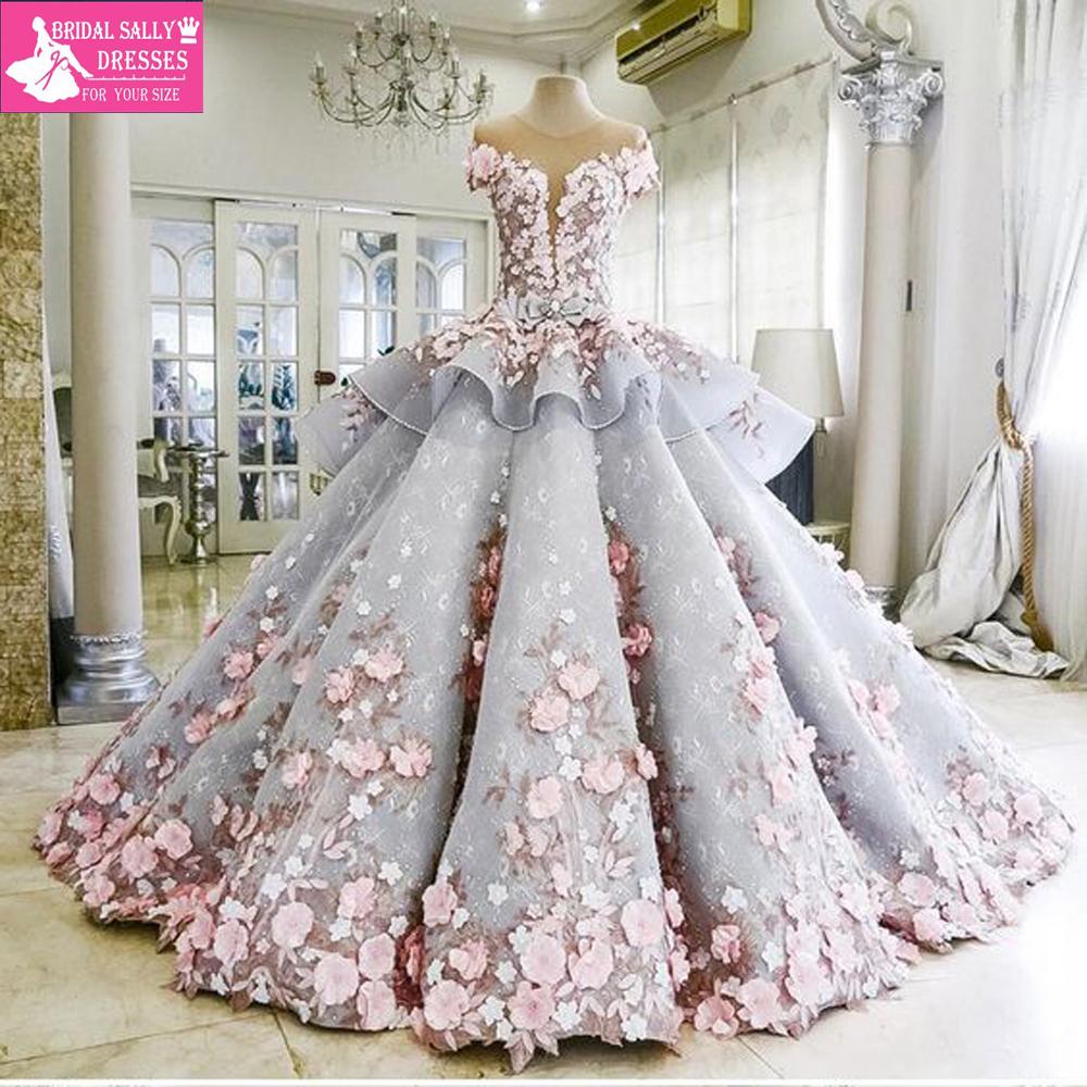 Princess Wedding Dresses 2017 Luxury Colorful Wedding Gowns Robe De ...