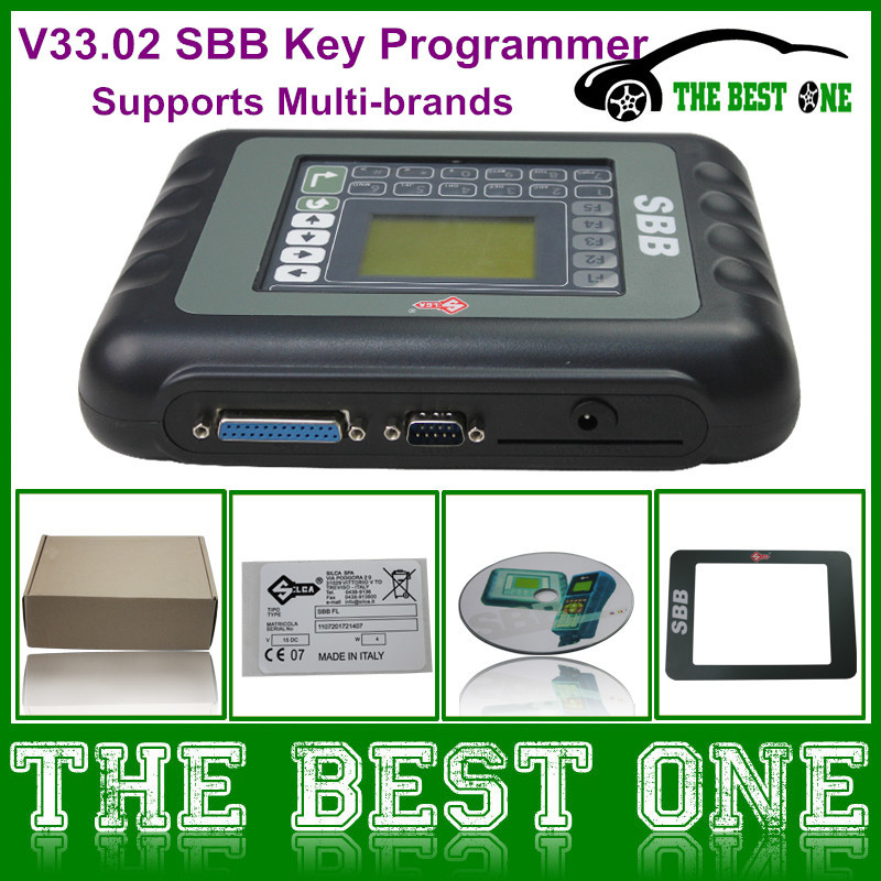 2015 Latest V33.02 Silca SBB Programmer Works On Multi-brand Cars 9 Languages Option Sbb Auto Key Programmer V33 Free Shipping(China (Mainland))