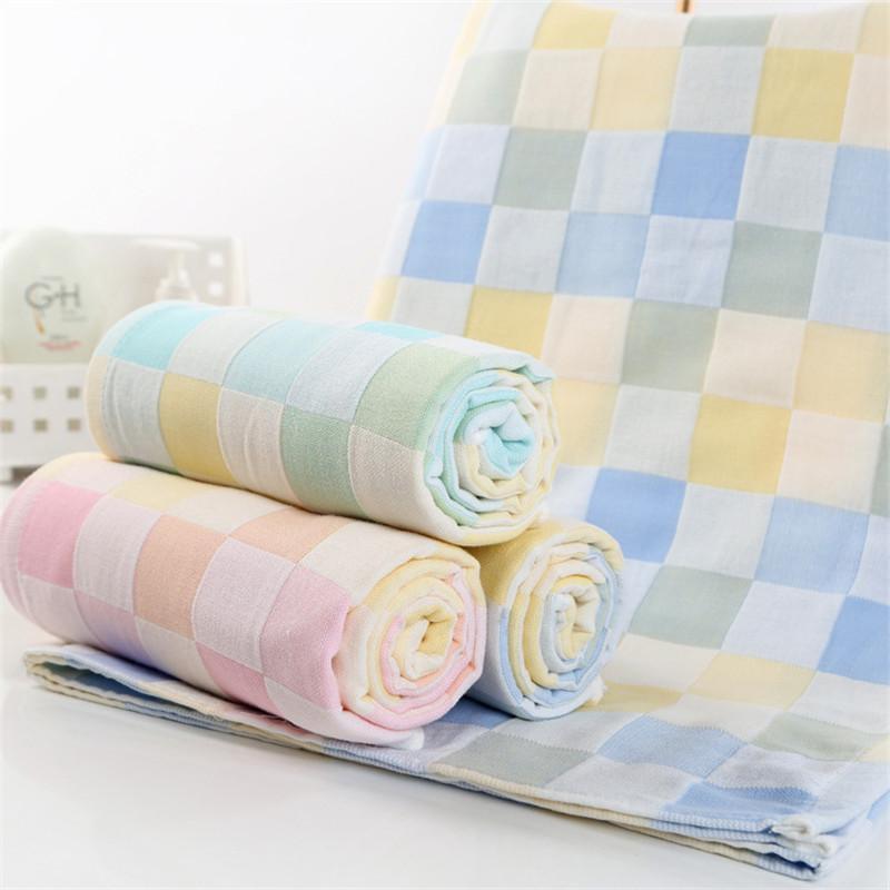 New soft towels 100% cotton bath towel for women & men 70*140cm pink plaid towels large size bathroom beach towels cheap(China (Mainland))