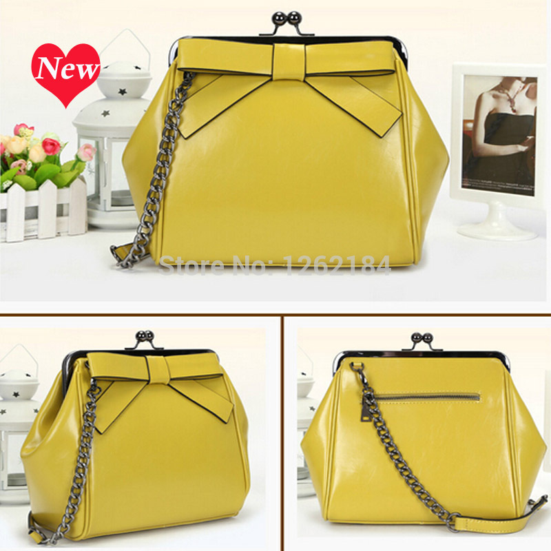 2014 new European and American casual cowhide leather handbag shoulder bag Mobile Messenger Ms. Guangzhou factory wholesale<br><br>Aliexpress