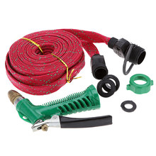 Car Garden 10M/33ft High Pressure Water Wash Pipe Hose Gun Clean Sprayer with Brass Head(China (Mainland))
