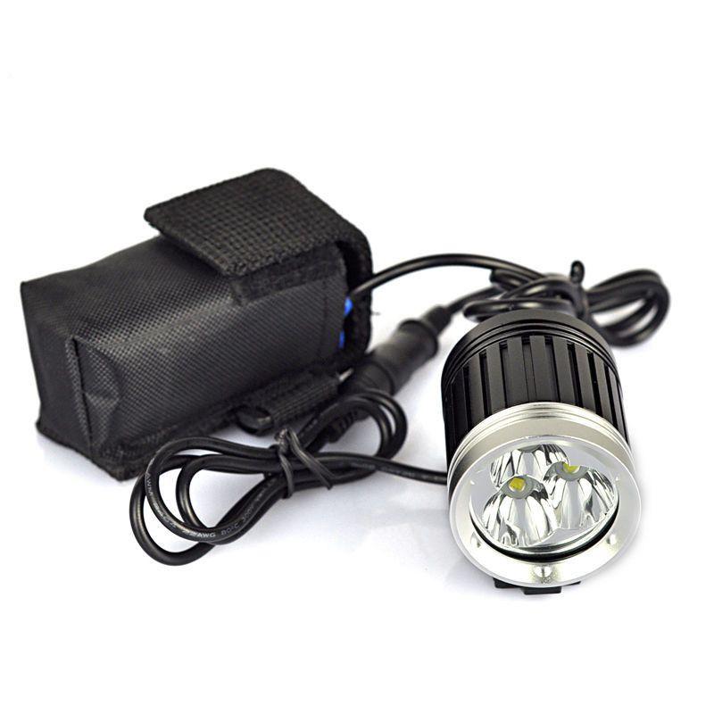 3X CREE XM-L T6 LED 4000LM Cycling Bike Bicycle Front Light Headlight Lamp+8.4V 6400MAH Battery Pack+EU/US Charger(China (Mainland))