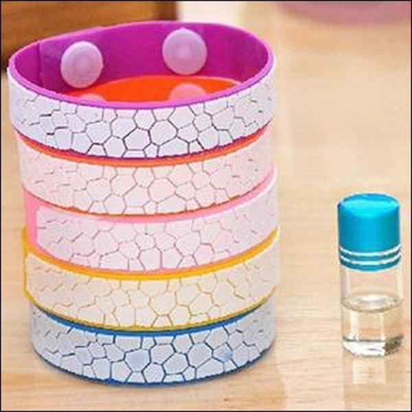 BY DHL OR EMS 100PCS natural cute Anti Mosquito Bug Repellent Bracelet/Wrist Band Natural No Insects(China (Mainland))