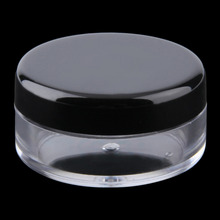 Light Weight Mini 1Pcs Cosmetic Empty Jar Sample Pot Eyeshadow Makeup Face Cream Container Portable Worldwide sale(China (Mainland))