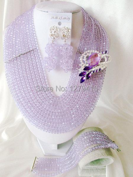 Fashion Nigerian African Wedding Beads Jewelry Set , Crystal Necklace Bracelet Earrings Set C0311<br><br>Aliexpress